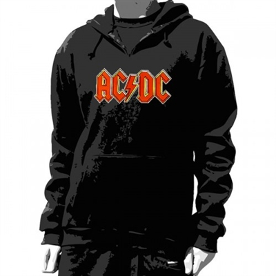 ac dc classic logo unisex pullover hoodie. Black Bedroom Furniture Sets. Home Design Ideas